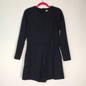 See by Chloe Long Sleeve Striped Wool Dress 2